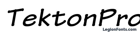 TektonPro BoldExtObl Font