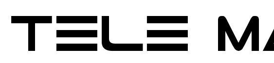 Шрифт Tele Marines Bold