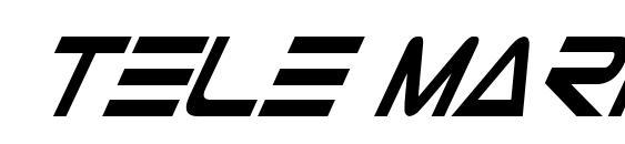 Шрифт Tele Marines Cond Bold Italic