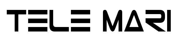 Шрифт Tele Marines Condensed Bold