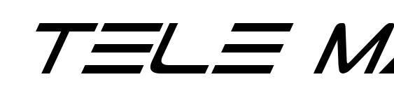 Tele Marines Italic Font