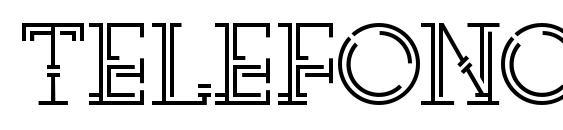telefono Font