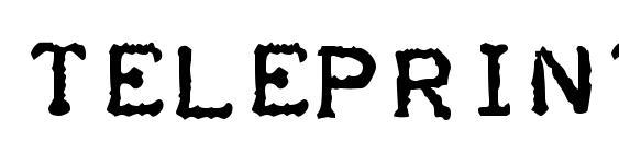 Шрифт Teleprinter Bold Italic