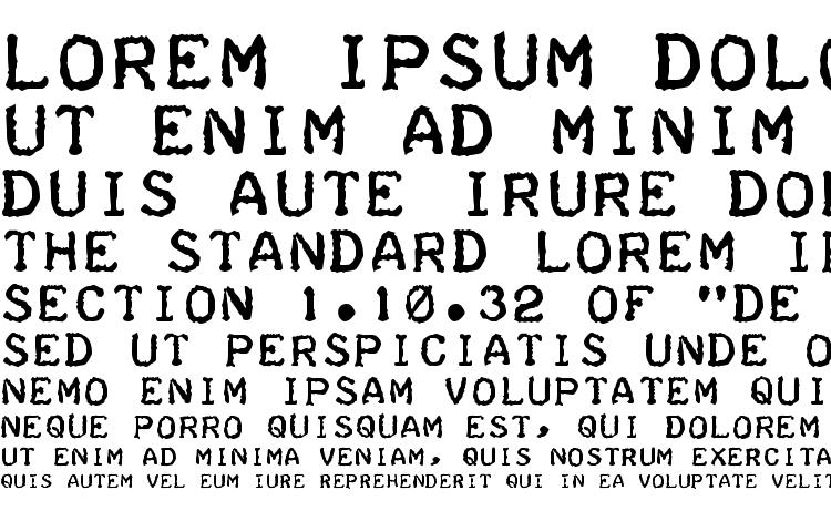 specimens Teleprinter Bold font, sample Teleprinter Bold font, an example of writing Teleprinter Bold font, review Teleprinter Bold font, preview Teleprinter Bold font, Teleprinter Bold font