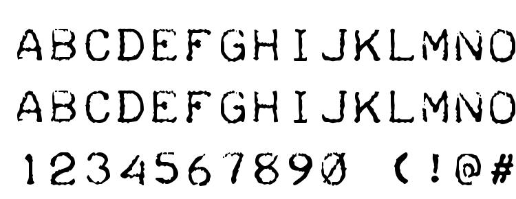 glyphs Teleprinter font, сharacters Teleprinter font, symbols Teleprinter font, character map Teleprinter font, preview Teleprinter font, abc Teleprinter font, Teleprinter font