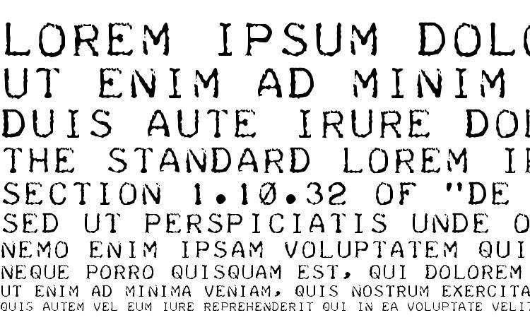 specimens Teleprinter font, sample Teleprinter font, an example of writing Teleprinter font, review Teleprinter font, preview Teleprinter font, Teleprinter font