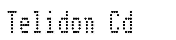 шрифт Telidon Cd, бесплатный шрифт Telidon Cd, предварительный просмотр шрифта Telidon Cd