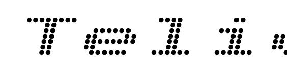 Telidon Ex Bold Italic Font