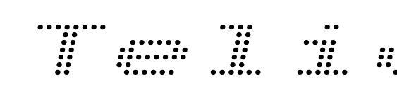 Telidon Ex Italic font, free Telidon Ex Italic font, preview Telidon Ex Italic font