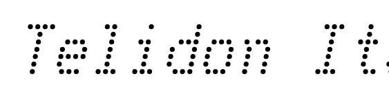 Telidon Italic Font