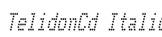 TelidonCd Italic Font