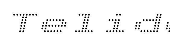 Шрифт TelidonEx Italic