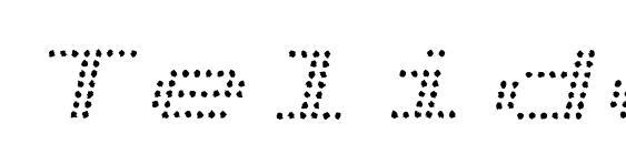 TelidonInkEx Italic Font