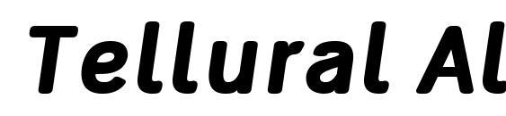 Tellural Alt Bold Italic Font