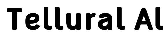 Tellural Alt Bold Font
