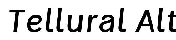 Tellural Alt Italic Font