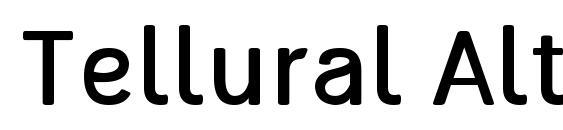 Tellural Alt Font