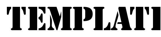 Шрифт Templatecapsssk bold