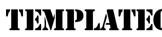 Шрифт TemplateCapsSSK
