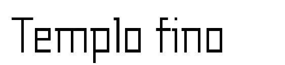 шрифт Templo fino, бесплатный шрифт Templo fino, предварительный просмотр шрифта Templo fino