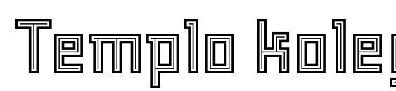 Шрифт Templo kolegio