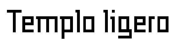 Шрифт Templo ligero