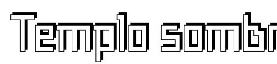 Templo sombra font, free Templo sombra font, preview Templo sombra font