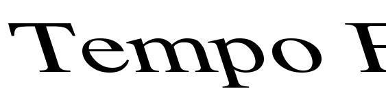 Tempo Font Ex Left Font