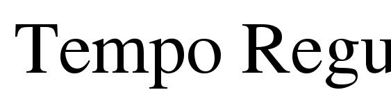 шрифт Tempo Regular, бесплатный шрифт Tempo Regular, предварительный просмотр шрифта Tempo Regular