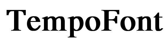 TempoFont Bold Font