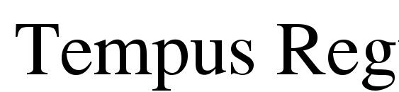Tempus Regular font, free Tempus Regular font, preview Tempus Regular font