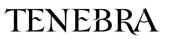 Шрифт Tenebra