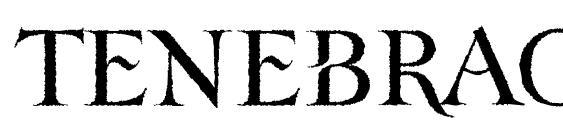 Шрифт TenebraOldFace