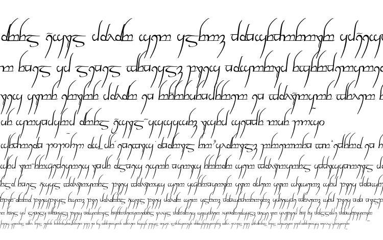 specimens Tengwar cursive font, sample Tengwar cursive font, an example of writing Tengwar cursive font, review Tengwar cursive font, preview Tengwar cursive font, Tengwar cursive font