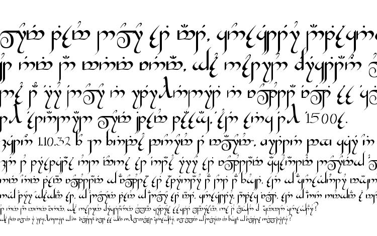 specimens Tengwar Gandalf Medium font, sample Tengwar Gandalf Medium font, an example of writing Tengwar Gandalf Medium font, review Tengwar Gandalf Medium font, preview Tengwar Gandalf Medium font, Tengwar Gandalf Medium font