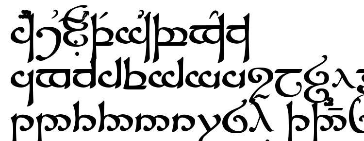 глифы шрифта Tengwar Sindarin, символы шрифта Tengwar Sindarin, символьная карта шрифта Tengwar Sindarin, предварительный просмотр шрифта Tengwar Sindarin, алфавит шрифта Tengwar Sindarin, шрифт Tengwar Sindarin