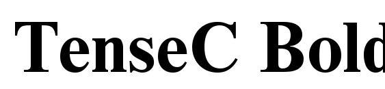TenseC Bold font, free TenseC Bold font, preview TenseC Bold font