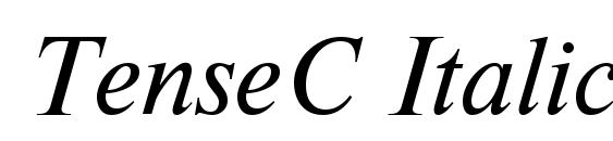 шрифт TenseC Italic, бесплатный шрифт TenseC Italic, предварительный просмотр шрифта TenseC Italic