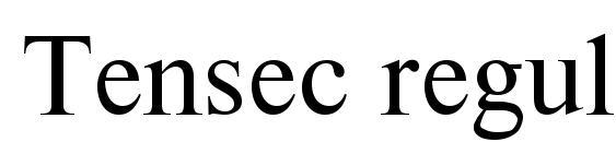 Tensec regular Font