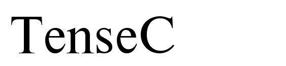 Шрифт TenseC