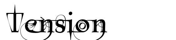 Шрифт Tension