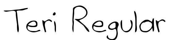 шрифт Teri Regular, бесплатный шрифт Teri Regular, предварительный просмотр шрифта Teri Regular