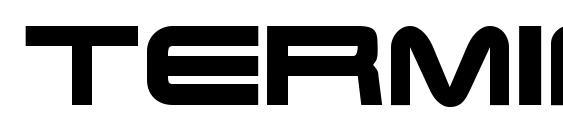 Шрифт Terminator real nfi