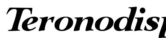 Шрифт Teronodisplayssk italic