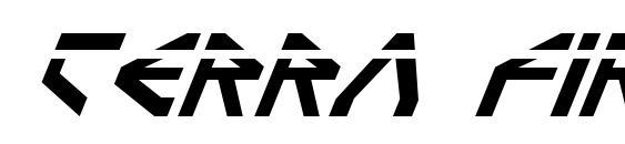 шрифт Terra Firma Laser Italic, бесплатный шрифт Terra Firma Laser Italic, предварительный просмотр шрифта Terra Firma Laser Italic
