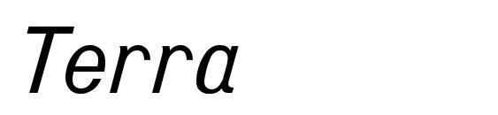 Шрифт Terra