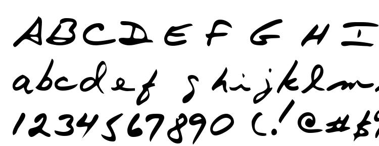 glyphs Terryshand font, сharacters Terryshand font, symbols Terryshand font, character map Terryshand font, preview Terryshand font, abc Terryshand font, Terryshand font