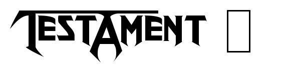 Шрифт Testament Logo