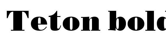 Шрифт Teton bold