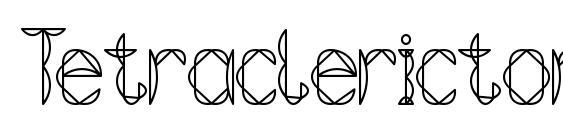 Шрифт Tetraclericton